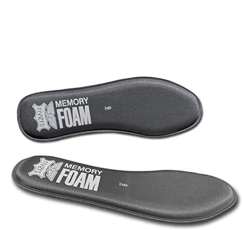 Memory-Foam Shoe-Insoles Inner-Soles Inserts Replacement for Men - Sneakers Inlay-Soles Plantar Fasciitis Orthotics Flat Feet Pad Pain Cushioning Odors-Eater Shock Absorption Workout Insoles (Grey, 8)