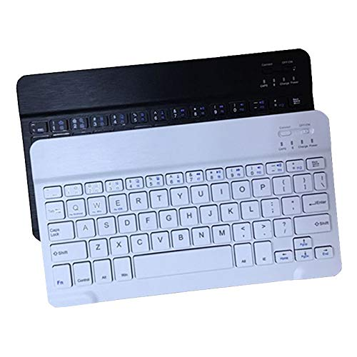 Mini Teclado inalámbrico Bluetooth Teclado de Tableta de teléfono Ultra Delgado Teclado Bluetooth (Color : 7inch White)