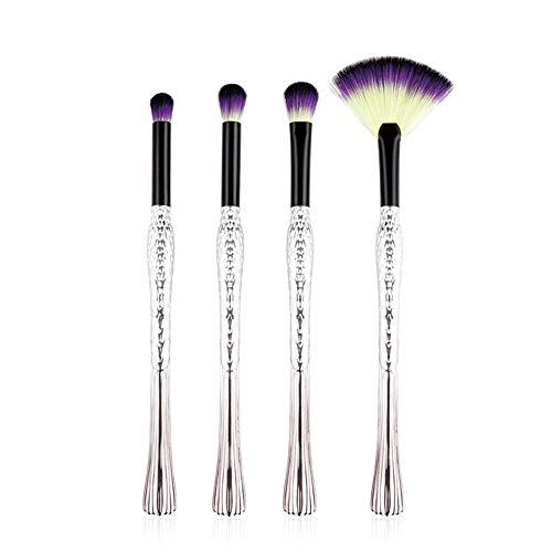Pinceaux Maquillage Kit de 4pcs Brosse de Maquillage Professionnel Fondation Concealer Eye Shadow Beauté Outils