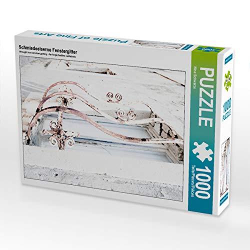 CALVENDO Puzzle Schmiedeeiserne Fenstergitter 1000 Teile Lege-Größe 48 x 64 cm Foto-Puzzle Bild von Nina Schwarze