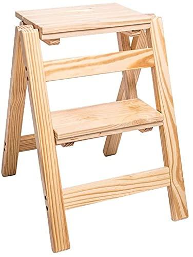 Sgabello pieghevole per bambini, per adulti, 2 gradini per 171,5 kg, in legno per la casa/pedale largo