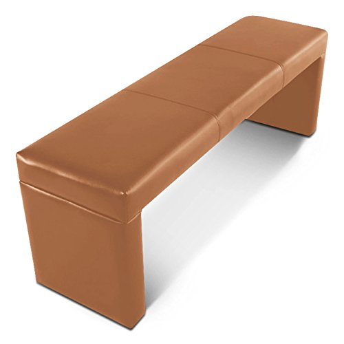 SAM Sitzbank 200 cm Nellie in Cappuccino, komplett bezogen, angenehme Polsterung