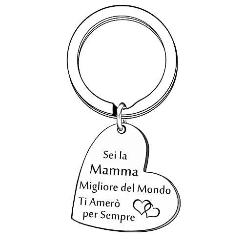 CHHYU Regalo di Mamma Portachiavi Donna Gioielli Mummia Mama Madre Regalo Regalo per la Festa Della Mamma Regalo di Compleanno (1)