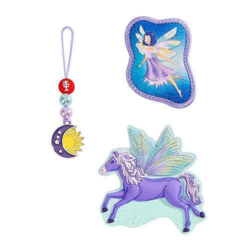 """Step by Step Magic Mags """"Fantasy Pegasus"""", 3-teilig, 2 Magnet-Applikationen und 1 Anhänger, als Ergänzung für den Schulranzen oder Vorschulrucksack, für Mädchen"""