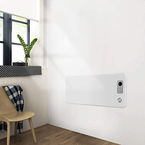fam famgizmo 1200W/1800W/2500W Slim Electric Wall Mounted Convector Panel Heater Radiator,Floor Free Standing,7-Day Timer & Advanced Thermostat,Remote Control & Wifi Function