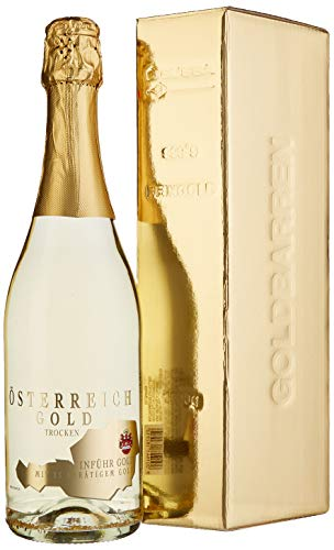 Österreich Gold - mit 23 Karat Blattgold mit Geschenkverpackung (1 x 0.75 l)