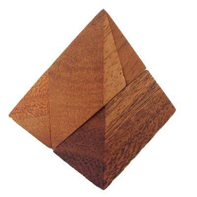 Dilemmata Mini Pyramide, Pyramiden Puzzle 4-teilig Holz Puzzle Knobel IQ-Spiel