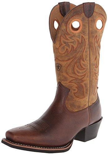 Ariat Men's Sport Square Toe Western Cowboy Boot, Fiddle Brown, 12 M US