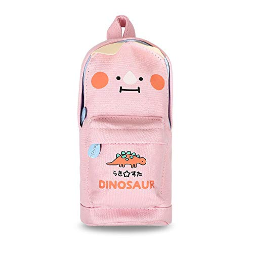 N / A Creative Cartoon Dinosaur Pencil Case Cute High Capacity Schoolbag Shape Pencil Bag Back to School Gift Kawaii Stationery 10 * 21 * 5.5CM