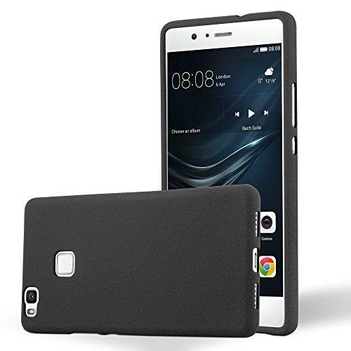Cadorabo Custodia per Huawei P9 Lite in Frost Nero - Morbida Cover Protettiva Sottile di Silicone TPU con Bordo Protezione - Ultra Slim Case Antiurto Gel Back Bumper Guscio