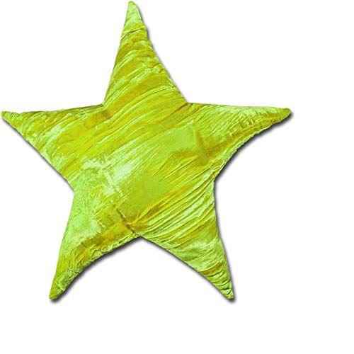 Candi Andi Handmade 13' Star Shaped Home Décor Throw Pillow - Buckwheat Hull Fill - Lavender Scented - Lime
