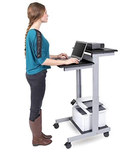Mobiler ergonomischer Stand-up-Computerschreibtisch (Schwarz, Schreibtisch Länge: 60cm)