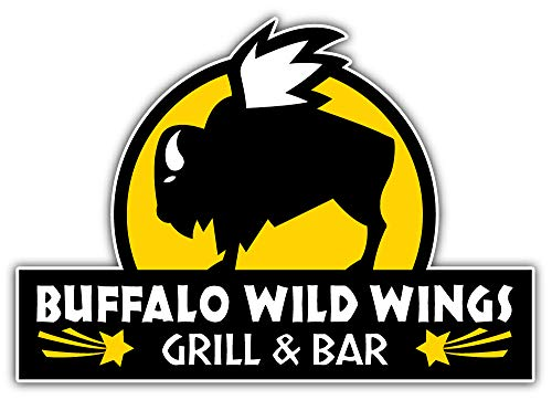 Buffalo Wild Wings Sticker Car Bumper Decal 5'' X 4''