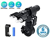 Voroly 3 in 1 Ultra-Bright LED Tactical Flashlights Torch Rechargeable Waterproof with Bicycle
