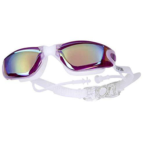 N\C EMIUP Gafas de natación antivaho, a Prueba de Rayos Ultravioleta e Impermeables para Adultos con Funda Protectora