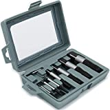 8Pcs Screw Extractor Set, Easy Out Damaged Screw Extractor Kit, Bolt Water Pipe Remover Set, with Storage Case.