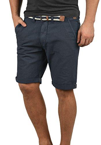 Indicode Mews Herren Chino Shorts Bermuda Kurze Hose mit Gürtel Regular Fit, Größe:M, Farbe:Navy (400)