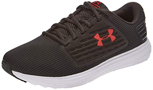 Under Armour Men's Surge SE Running Shoe, Jet Gray (101)/White, 9.5