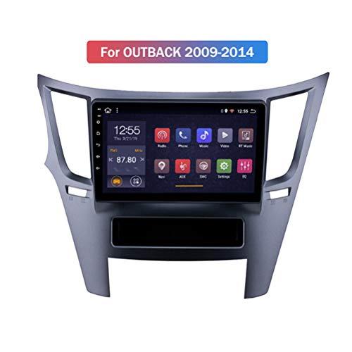 HP CAMP 8 Core Android 9.1 Multimedia GPS para Subaru Legacy Outback 2009-2014, Navigation Stereo con Altavoz/micrófono/Bluetooth 5.0, Soporte SWC/cámara de Respaldo,WiFi 2g+32g