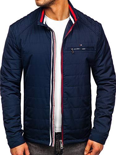 BOLF Herren Übergangsjacke Steppjacke Daunen-Optik Casual Elegant Leichte Frühlings Jacket Moderne Männer Jacke Extreme 2060 Dunkelblau XL [4D4]