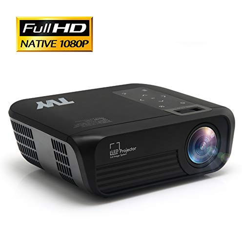 TVY Native 1080P Home Theater Projector 5000 Lumens and 200'' Display Portable Outdoor Movie Projector, Compatible with PS4, PC via HDMI, AV and USB for Entertainment [2020 Latest Upgrade] (Black)