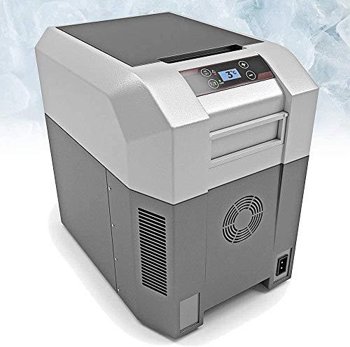WRJY Refrigerador congelador con compresor portátil (24 35 42 60 80 litros) Mini refrigerador con alimentación de CA o CC | Comida Bebidas Vino | Picnic de Viaje de Campamento-Gris 24 litros