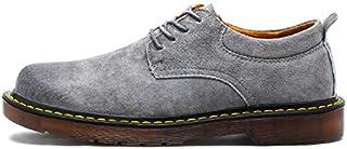 حذاء أوكسفورد برقبة منخفضة للعمل للرجال من أحذية أمان مضادة للانزلاق بأربطة جلد سويدي للاستخدام الخارجي, 39 EU