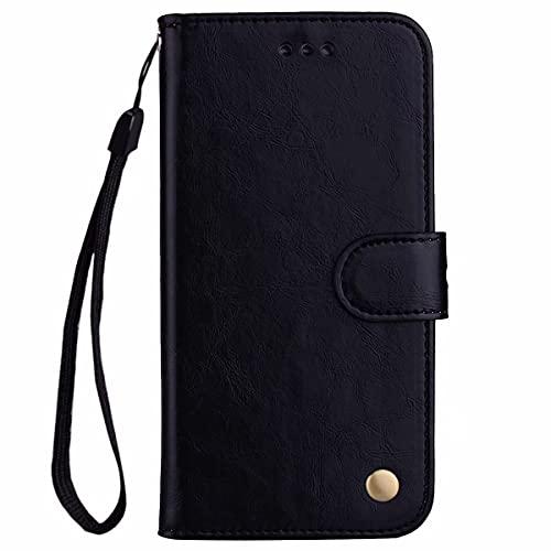 Nadoli Leder Hülle für Xiaomi Redmi Note 9 Pro,Retro Ölwachs Premium Pu Leder Magnetverschluß Ständer Klapptasche Kartenfäche Flip Schutzhülle Tasche Brieftasche