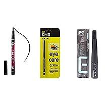 Airah Beauty Combo of 3 Different Eyeliner 36H Waterproof Eye Defining Kajal Pencil
