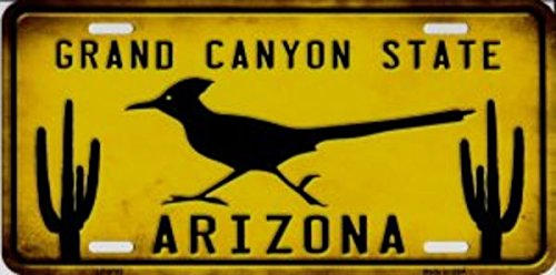 Smart Blonde Arizona Grand Canyon State Roadrunner Metal License Plate