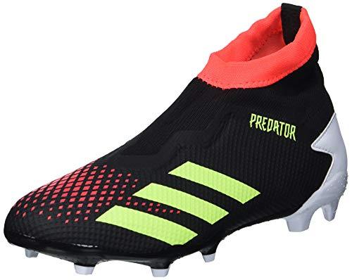 adidas Predator 20.3 Laceless Firm Ground Soccer Shoe (mens) Black/Signal Green/Pop 12