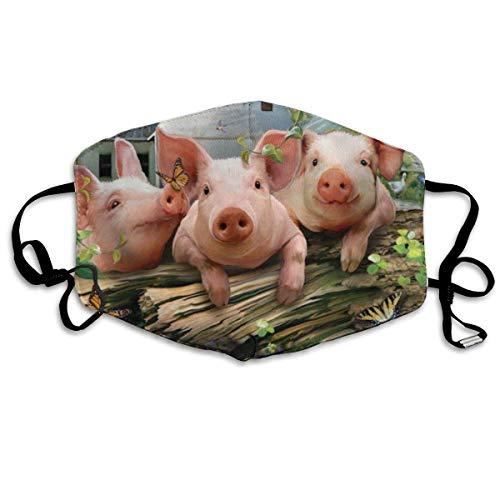 Schweine schluckt DREI Farm Pond Art Mundabdeckung Gesichtsabdeckung