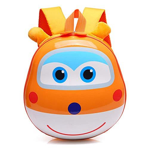 Schooltas voor kinderen, tas, cartoon, vliegtuig, kleuterschool, kindertas, kindertas, schoudertas voor babyeieren, Oranje. (Oranje) - 9868615348273