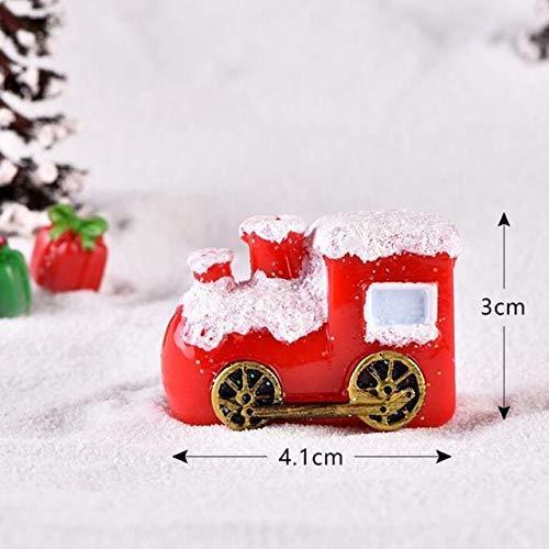 TOMHY 1PC Miniatura Navidad Ornamento Regalo Carro Bonsai Micro Paisaje Fy Decoración Ciervos Figurines Artículos de decoración: Una, China