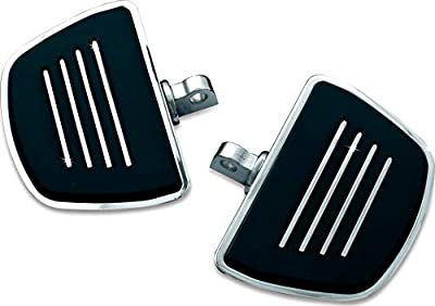 Kuryakyn 4392 Motorcycle Foot Control Component: Premium Mini Board Floorboards with Male Mount Adapters, Chrome, 1 Pair from Kuryakyn