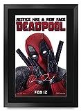 HWC Trading Deadpool A3 Enmarcado Regalo De Visualización De Fotos De Impresión De Imagen Impresa Autógrafo Firmado por Ryan Reynolds Ventiladores del Cartel De Película