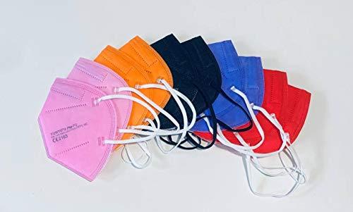 YUNYIFU 10 x FFP2 Maske | Mundschutz Maske FFP2 | ISO + CE zertifiziert | Atmungsaktiv | 10 Stück einzeln verpackt (Woman Mix)