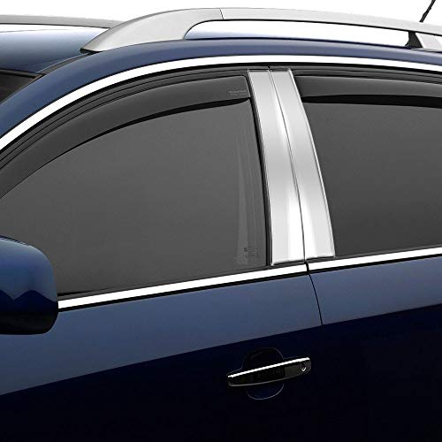 AUTOCARIMAGE Stainless Steel Pillar Posts (B Pillars) Covers for Cadillac Fleetwood 1993 1994 1995 1996-6 Pieces