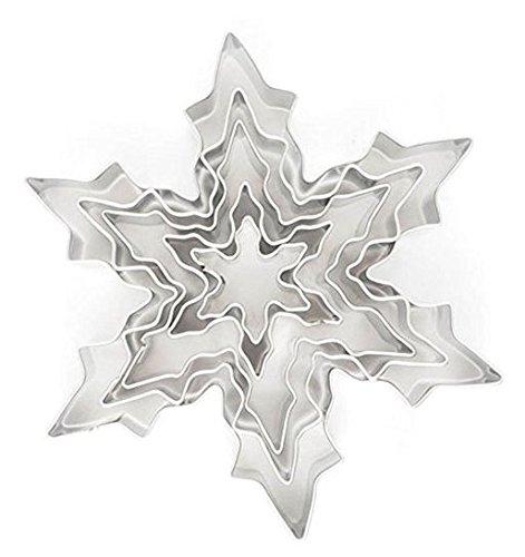 Lot de 5 emporte-pièces en forme de flocon de neige