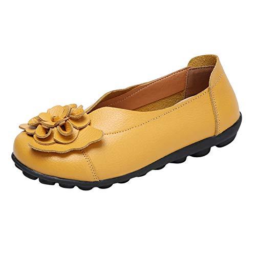Loafers Damen Modetrend Sommer Frauen Loafers Einfach Einfarbige Elegante Freizeitschuhe Wunderschön Blumen Strandschuhe Bequeme Weicher Boden Übergröße Keilabsatz Segelschuhe