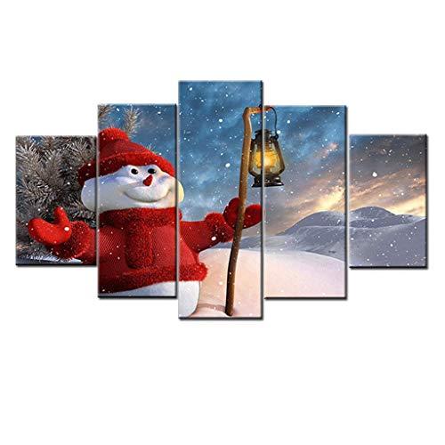 LQH Arte de la Pared Poster decoración casera Moderna 5 de Navidad Decoraciones de Halloween HD Pri (Size : 4)