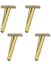 4 stuks meubelpoten, doe-het-zelf, metalen, schuine poten, meubels, kasten, poten, sofa, schuine hoek, voor salontafel, eettafel, bureau, nachtkastje, tafel, bank (10 cm)