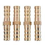 8mm-8/10 / 12mm Tubo Reductor de Púas de latón Empalmador Unión de tubos Manguera de Compresión Accesorios de Unión de Tubería Recta(8-8mm)