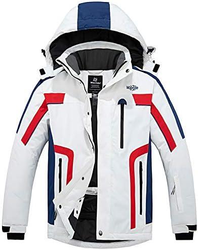 Wantdo Men s Ski Jacket Sportswear Waterproof Insulated Rain Coat White S product image