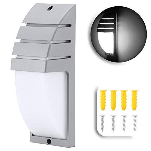 8W LED COB pared de la pared moderna lámpara simple montada en la pared 6000-6500K AC 85-265V luz de la noche impermeable para el balcón del pasillo de la casa (gris, blanco)
