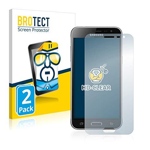 BROTECT Schutzfolie kompatibel mit Samsung Galaxy J3 / J3 Duos (2016) (2 Stück) klare Bildschirmschutz-Folie