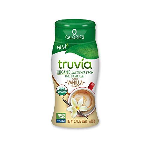 Truvia Organic Zero-Calorie Liquid Stevia Sweetener, 2.7 fluid ounce bottle, Vanilla flavor