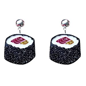 CutieJewelry Womens Sushi Japanese Cute Novelty Unique Statement Dangle Earrings
