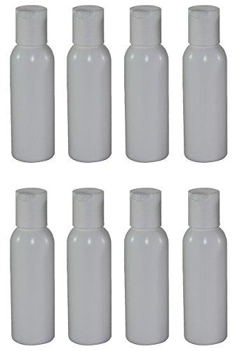 Garrafa recarregável de 56,7 g com tampa de disco (pacote com 8, branca)
