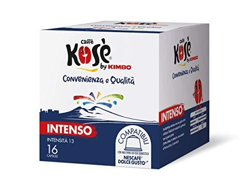 Kosè by Kimbo Capsule Intenso Compatibili Nestlé Dolce Gusto, 6 Astucci Da 16 Capsule - 672 g
